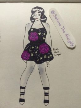 Poofy floral romper by SaturnTheAlmighty