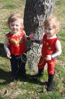 Wonder Girl twins cosplay by cimmerianwillow
