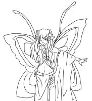 Redo Butterfly girl outline by superjacqui