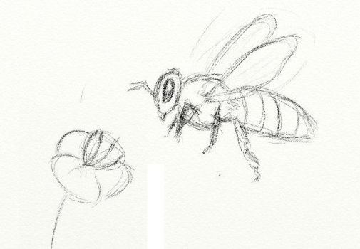 Brouillon abeille by PrincessePiment