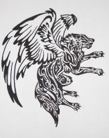 Wolf tattoo design by Living-Life-Loud