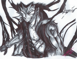 Gajeel (BallPointPen) by passion00