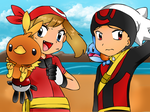 Pokespe - Sapphire And Ruby by CreepyMoon