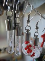 Blood and Sperm Cell Earrings by Malyanan