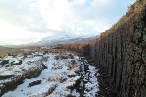 Peat Cuttings In Snow by merearthling