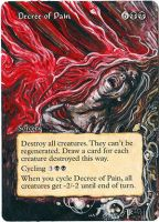 Magic Card Alteration: Decree of Pain 6/6 by Ondal-the-Fool