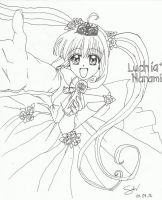 Luchia Nanami (line art) by ForeverWrong