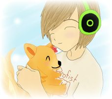 Pewdie and Pom (Pom gets Wi-Fi) by serroven