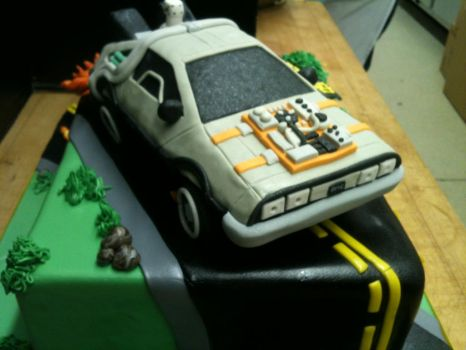 Back to the Future Cake- Front View by Spudnuts