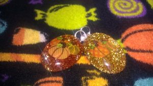 Pumpkin Holographic glitter charms by toxiclysweet