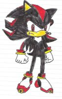 Shadow the Hedgehog-Colored by SonicFan3