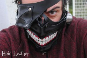 Tokyo Ghoul Eyepatch Leather Mask - Smile by Epic-Leather