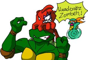 TMNT: HEADCRABZ ZOMBEH by Turtlefreak121