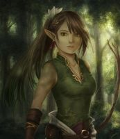 Huntress in the Woods by Dice9633