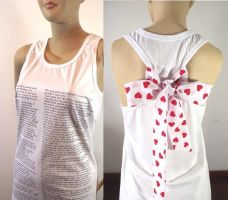 Bow Tank Top Jane Austen by LiliaVanini