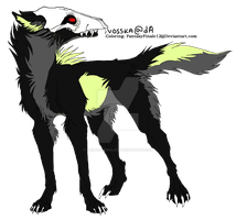 Wolf Lineart Coloring (Death 2) by FantasyFinale12