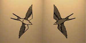 Swallow Tattoo design by VOLT-reborn