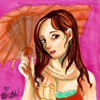 Antique Parasol by Meam-chan