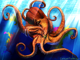 Taunted Octopus by amathystwolf