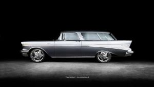 1957 Chevrolet Nomad Side by AmericanMuscle