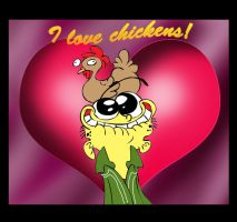 I Love Chickens by Edness-Madness