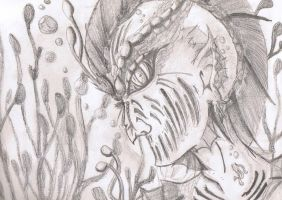 Merman made- no eraser used- all pencil by jashinist112