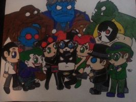 batman villains chibi style 2 by Pradaninja