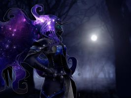 Human Nightmare Moon by mistysteel
