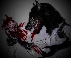 Werewolf and Gore by johnfboslet2001