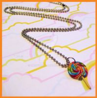 Lollipop Necklace by cherryboop