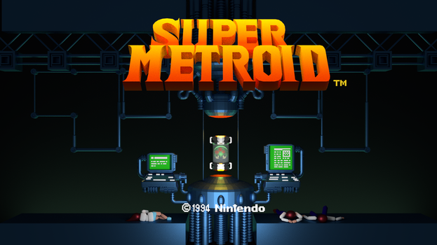 Super Metroid Title Screen by ARX-DM