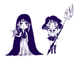 Mistress 9 and sailor saturn by Lia-tomoe