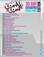 COMCOM!! 30 Day Drawing Challenge Edition by AndrewSketches