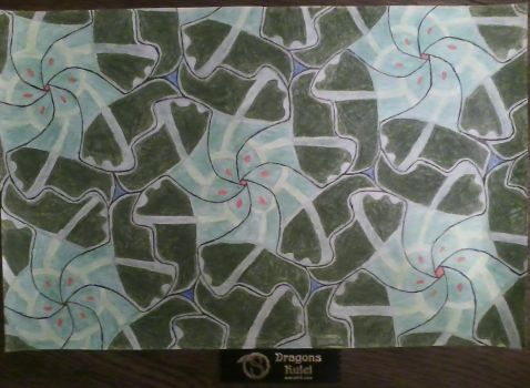 Equilateral Triangle Tessellation by HelloKittyTsi