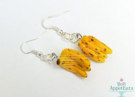 Ripe Banana Bunch Earrings by Bon-AppetEats