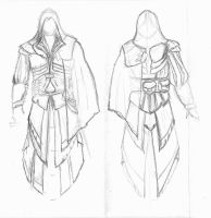 Ezio Costume Progression 01 by rabid-llama