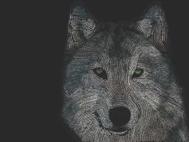 Wolf typography #2 by DeprivedOfSanity