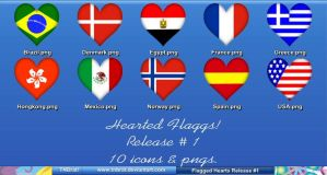 Hearted Flags by TNBrat