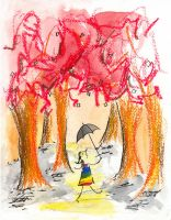 Strolling in the Crayon Forest by squiglemonster