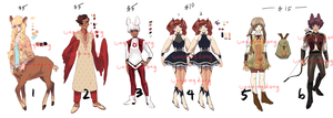 Adoptables by LINGDINGDONG