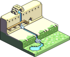 Isometric Stone Wall by PixelCod