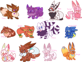 Eevee Characters by 0Shiny0