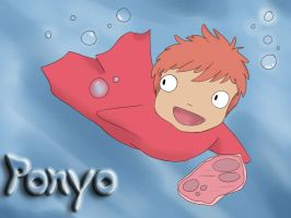 Ponyo and Ham by Imagin-Aries