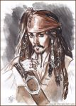 Captain Jack Sparrow, sketch. by Bormoglot