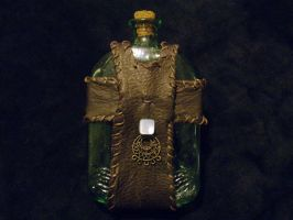 Steampunk Flask by saellys