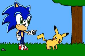Pikachu and Sonic by anthey925