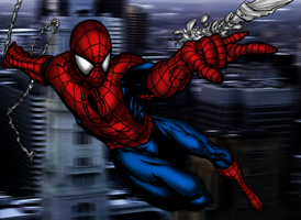 Spiderman Coloring by Ljwinter