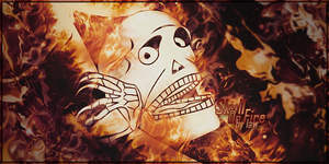 Skull on Fire by lawfx