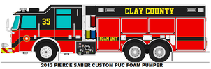 Clay County Fire Dept. Foam 35 by MisterPSYCHOPATH3001