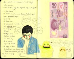 Money and I. F. - journal 25 by LadyOrlandoArt